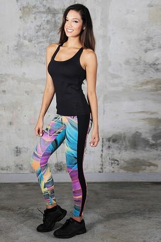 leggings yoga equilibrium print bikiniluxe