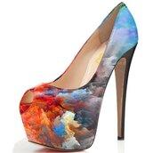 shoes,fsjshoes,grunge,alternative,pastel,cyber ghetto,pastel goth,pastel pink,grunge wishlist,high heels,platform shoes