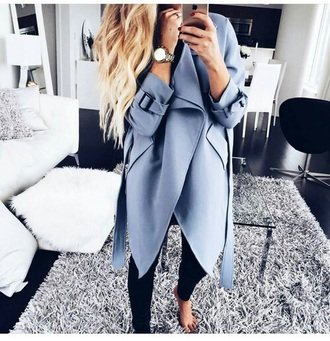 coat trench coat blue jacket summer jacket summer coat grey jacket grey summer fashion blog outfit winter outfits