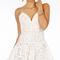 Ruffle lace skater cami dress