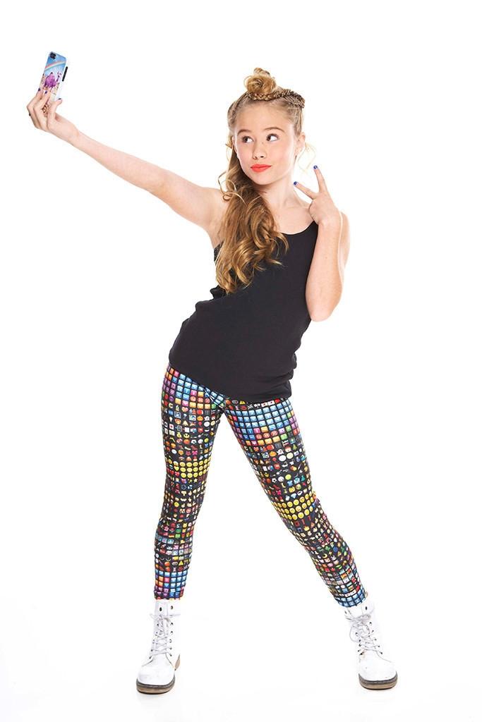 Girls emoji leggings