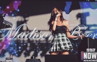 skirt singer green green skirt black skirt madison beer model / singer / actress plaid