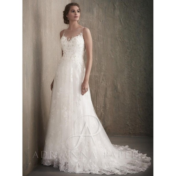 Dress Lace Adrianna Papell Wedding Dress Adrianna Papell