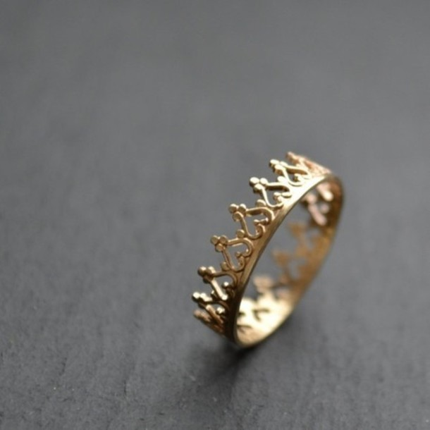 jewels ring gold fashion sweater princess crown ring gold ring queen riches picture from we heart it crown ring wow fashion ring gold ring queen ring gold ring etsy