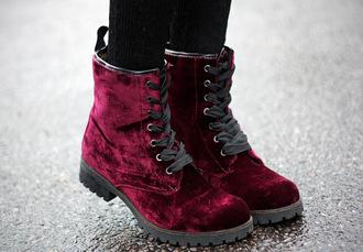 shoes velvet boots velvet shoes burgundy shoes flat boots