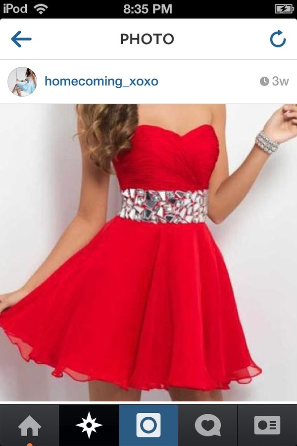 dress red dress short dress strapless dress girly belt