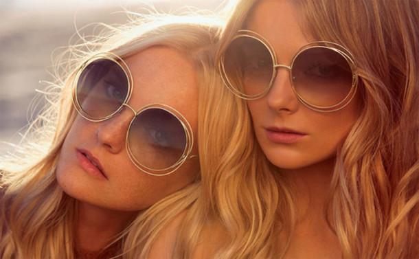 sunglasses gold round sunglasses