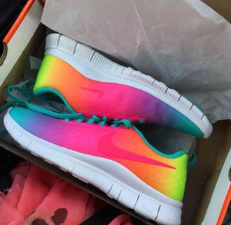 shoes nike rainbow wow