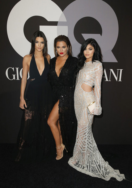 dress gown kendall and kylie jenner kylie jenner kendall jenner khloe kardashian grammys 2015