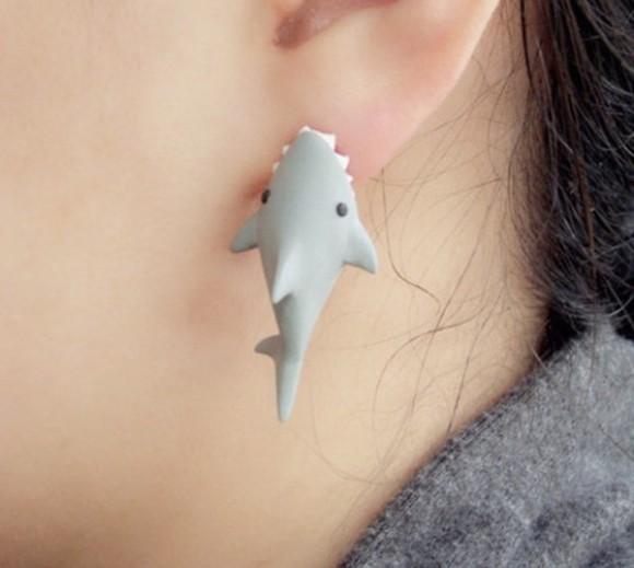 jewels earrings cool fish
