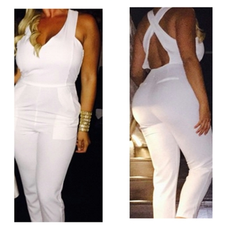 jumpsuit white jumpsuit white fashion fashionista