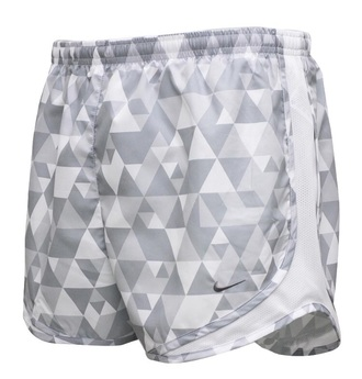 shorts grey gray white triangle print tempo nike running athletic sportswear grey shorts sports shorts
