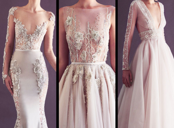 dress, lace dress, prom dress, cream dress with embroidered top ...