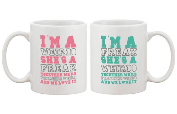 home accessory bff freind bff mug freak crazy weirdo funny cute gift ideas gift ideas  sc 1 st  Where To Get It & home accessory bff freind bff mug freak crazy weirdo funny ...