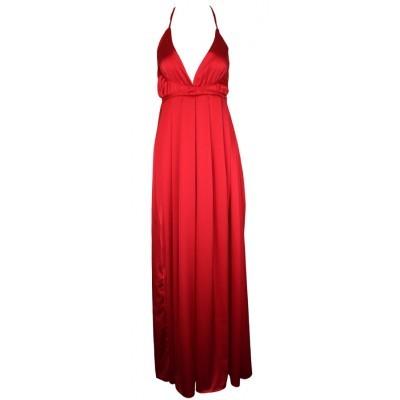 Pink&Red Maxi Slit Elegant Dress
