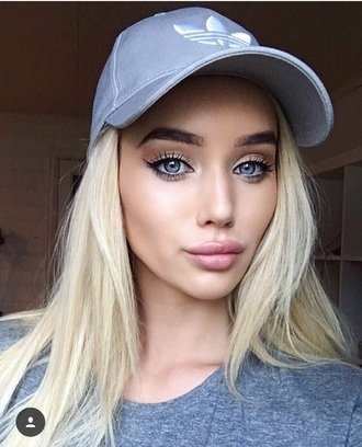 hat adidas baseball cap grey