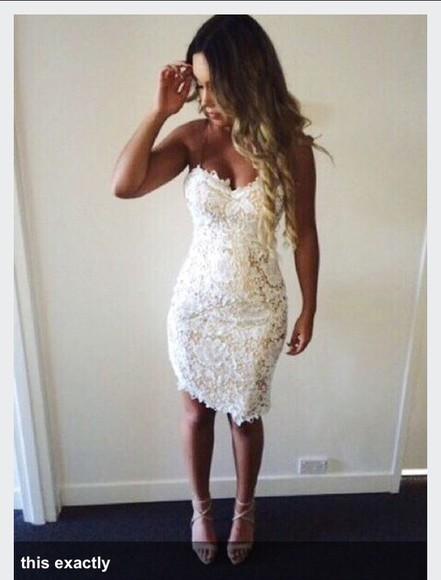 lace dress homecoming dress white dress whitelacedress lace up