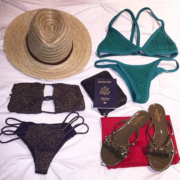2015 Posh Pua Kainalu Crochet Bottom in Emerald - Swimwear
