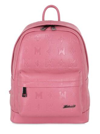 backpack leather backpack leather pink bag