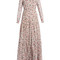 Denise floral-print silk-voile gown