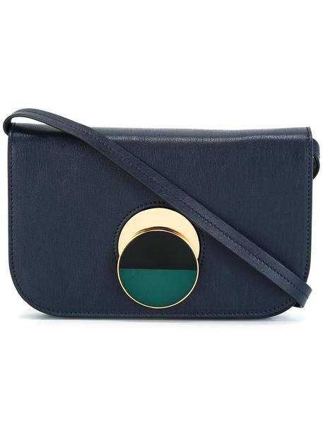 MARNI women bag crossbody bag leather blue