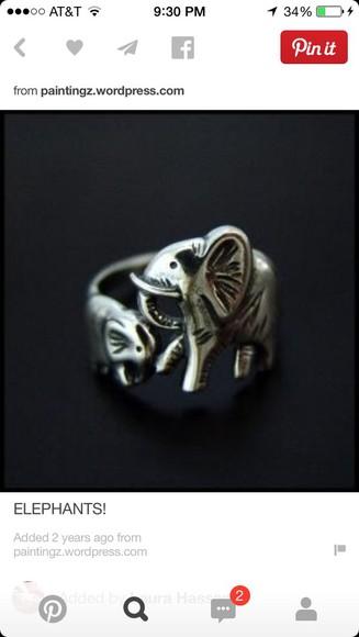 elephant jewels ring elephant ring