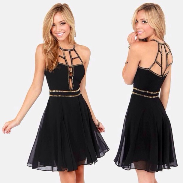 Dress: little black dress, black, black dress, short dress ...