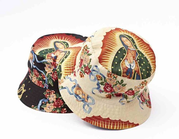 vintage hat bucket hat virgin mary
