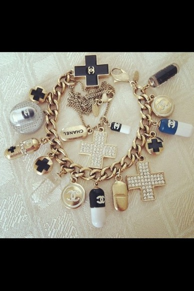 jewels charm bracelet chanel bracelets