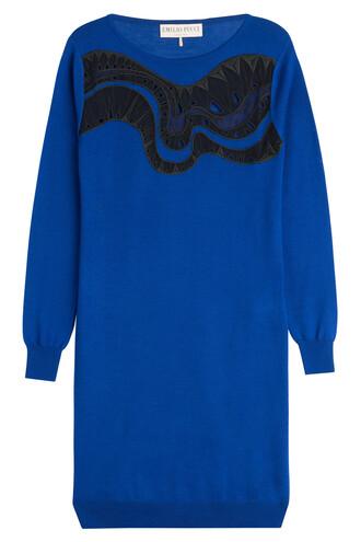 dress silk dress silk blue