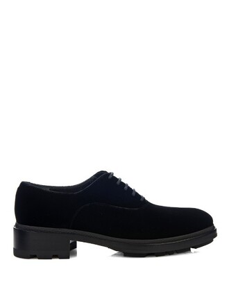 shoes lace-up shoes lace velvet black