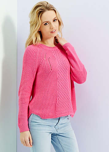 Cable Knit Jumper By Yumi Look Again