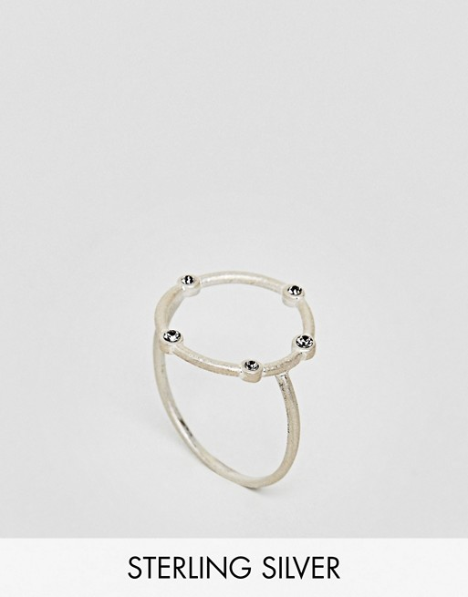 Dogeared Sterling Silver Infinity & One Halo Circle Ring at asos.com