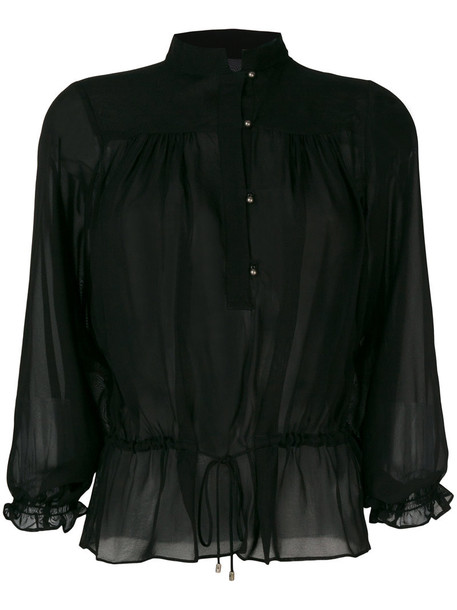 just cavalli blouse button up blouse women black top