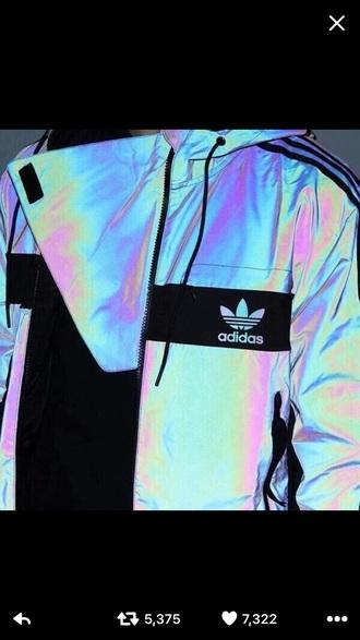 jacket adidas holographic windbreaker iridescent