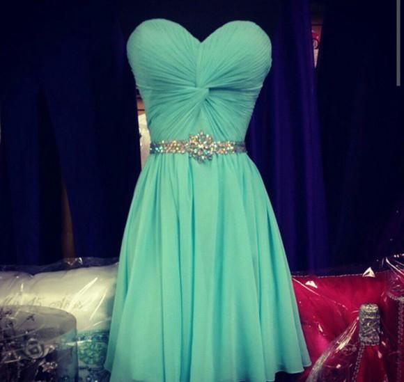 blue dress teal dress homecoming dress