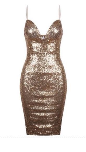 gold sequins bodycon dress www.ebonylace.net