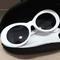 Cobain thick round frame alien sunglasses