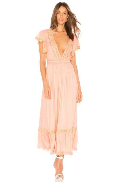 Cleobella Camelia Dress in pink