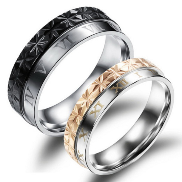 jewels gulleicom engraved promise rings men and women rings engraved titanium rings unique engagement - Wedding Rings For Him