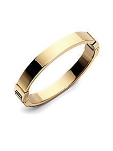 Michael Kors - Goldtone Hinged Bangle Bracelet - Saks Fifth Avenue Mobile