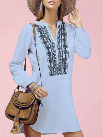 dress boho long sleeves fashion style trendy girly pattern dressfo