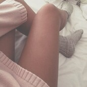 sweater,pink,socks,grey,cozy,winter outfits,winter sweater,warm,fall outfits,underwear