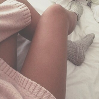 sweater pink socks grey cozy winter outfits winter sweater warm fall outfits underwear