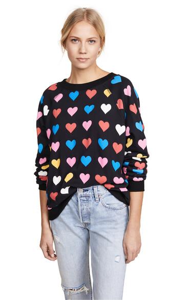 sweatshirt heart black sweater