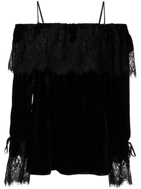 Gold Hawk top women cold lace cotton black silk