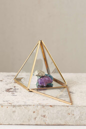 home accessory,pyramid box,urban outfitters,home decor,copper,gold,bedroom