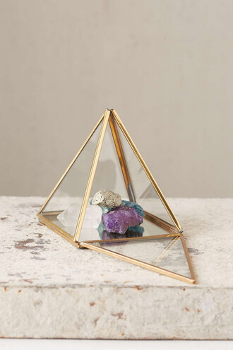 home accessory pyramid box urban outfitters home decor copper gold bedroom