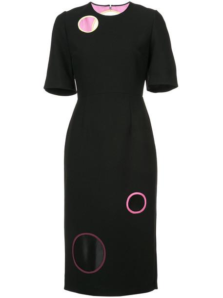 Roksanda dress women black silk