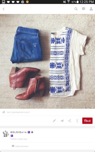 shirt pattern blue and white blue shirt white t-shirt cute t shirt shoes t-shirt